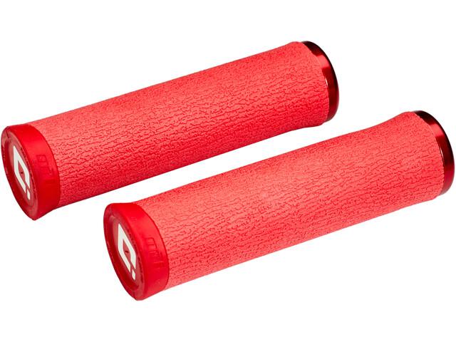 ODI F-1 Series Dread Lock Lock-On 2.1 Mountainbike Handvatten, red